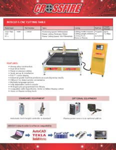 Intecut-S CNC Plasma Cutting Table