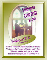 Advertised on CFIS-FM 93.1 Wedding Contest from CICOLE