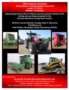 36th Annual Summer Machinery Consignment Auction
