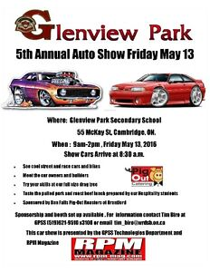 All Welcome to Glenview Park Auto Show Friday 13th in Canbridge