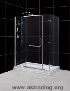Great BIG shower enclosureGreat BIG shower baseThe semi-framel