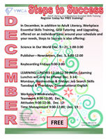 December Classes at Steps to Success