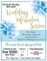 Personal Touch Banquet Hall - Wedding Information Session!