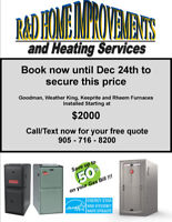 Furnace and Install Special for York Region-Starting at $2000