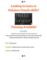 FRENCH TUTOR / TUTORING / HOMEWORK HELP / LEARNING