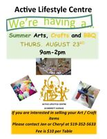 Summer Ats, Crafts and Vendor Sale and BBQ