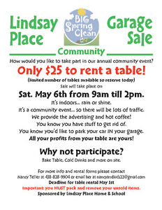 LPHS Community Sale Sat. May 6 - Pointe-Claire - Sellers Wanted!