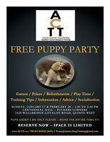 FREE Puppy Party - Feb 28th 1:00pm
