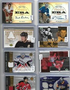 Huge lot of 100 hockey game used and auto$$$$$$$$$$$$$$