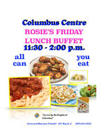 Columbus Centre Rosie's Friday Lunch Buffet