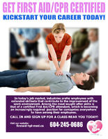 Get First Aid/CPR Certified NOW!