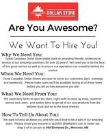 Looking for Awesome Full-Time Store Clerks!