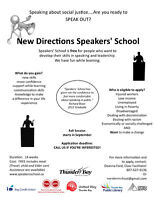 Speakers' School Fall session