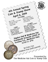 COIN & STAMP SHOW APRIL 6, 2019