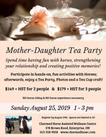 Mother - Daughter Tea Party with Horses