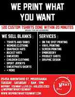 Custom T-shirt Printing/Embroidery Retail & Wholesale!