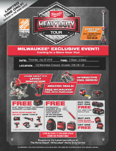 The Home Depot Milwaukee Heavy Duty Tour: July 26 7am-3pm