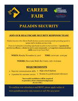 Paladin Security Career Fair / Open House - Slave Lake