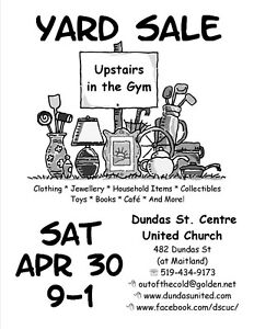 Downtown Church Indoor Yard Sale April 30