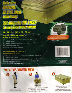 Fit-In-Bag-Air-Mattress-Bed  Indoor/Outdoor as shown