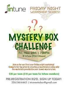InTune's Friday Night Workshop Series: MYSTERY BOX CHALLENGE Windsor Region Ontario image 1