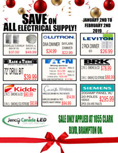 SAVE ALL MONTH ON ALL LED LIGHTING & ELECTRICAL SUPPLIES!!