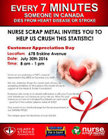 Nurse Scrap Metal, Crushing for a Cause, HAVE A HEART