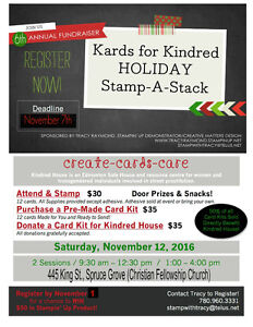 Kards for Kindred Holiday Stamp a Stack Fundraiser