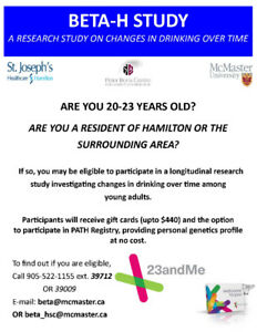 Male Participants Needed: Free 23andme Profile & up to $440