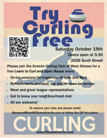 Learn to Curl Open House at the Granite Curling Club