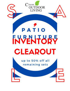 Patio Furniture  INVENTORY clearance