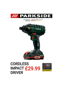 BRAND NEW PARKSIDE CORDLESS IMPACT DRIVER