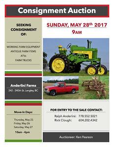Consignment Auction - Farm, Ranch & Garden Equipment May 28/17