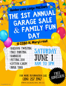 Golden Links Lodge First Annual Garage Sale & Family Fun Day!