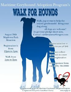 Maritime Greyhound Adoption Program-Walk for Hounds