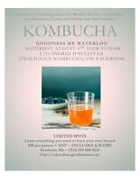 Kombucha 101 Workshop - WATERLOO - Sat. Aug. 6th