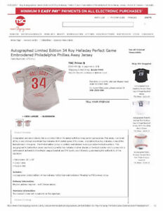 Roy Halladay Limited Edition Signed Perfect Game Jersey