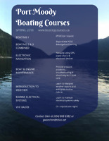 Port Moody Power & Sail Squadron Course Boat & Engine Maint.