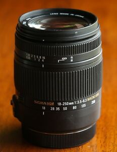 Sigma Lens 18-250mm F3.5-6.3 For Canon