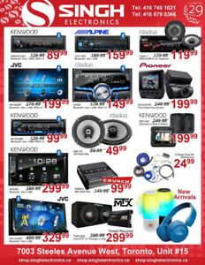 SPECIAL PRICES ON CAR DOUBLE DIN SUBWOOFERS AMPS AND DASHCAMS