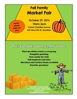 Vendors Wanted for Fall Family Market Fair