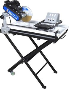 """10"""" WET TILE CUTTING SAW WITH STAND (cuts paving stones as well)"""