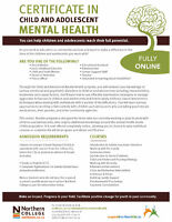 Certificate in Child and Adolescent Mental Health