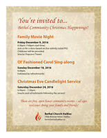 Free Family Christmas Movie Night at Bethel