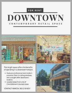 FOR RENT:  Contemporary retail space in a sought after location