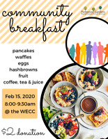 Community Breakfast! Saturday, Feb 15