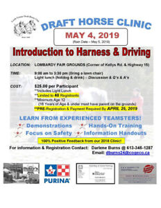 Draft Horse Driving Clinic