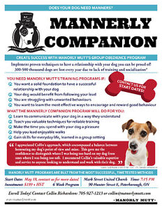 Mannerly Companion - Group Obedience Classes