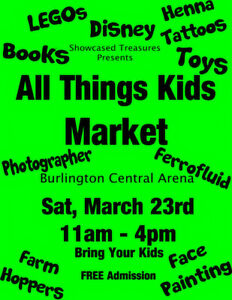 Vendors wanted: 'All Things Kids' Market Burlington March 23rd