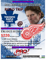 Toronto Maple Leafs @ Detroit Red Wings Road Trip